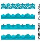blue waves sea ocean vector...   Shutterstock .eps vector #1434832067