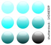 blue round gradient website... | Shutterstock . vector #14348509