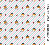 vector editable seamless... | Shutterstock .eps vector #1434887597