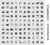 big collection of  web icons.... | Shutterstock .eps vector #143488921