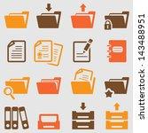 folder icons set.vector | Shutterstock .eps vector #143488951