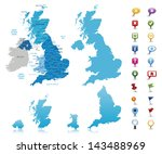 united kingdom  highly detailed ... | Shutterstock .eps vector #143488969
