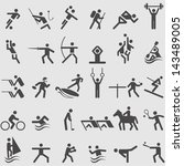 sport icons set. vector | Shutterstock .eps vector #143489005