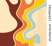 retro abstract strips... | Shutterstock .eps vector #143490361