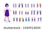 walking woman.different... | Shutterstock .eps vector #1434913034