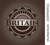 britain wooden emblem. vector... | Shutterstock .eps vector #1434934511