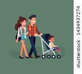 portrait of happy caucasian... | Shutterstock .eps vector #1434937274