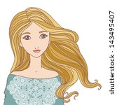 beautiful blond young woman... | Shutterstock .eps vector #143495407