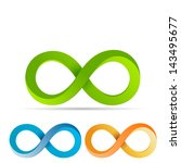 infinity sign   three color set ... | Shutterstock .eps vector #143495677