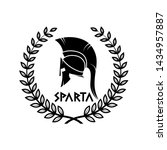 old shabby symbol of  spartan... | Shutterstock .eps vector #1434957887