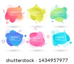 set of abstract liquid shapes...   Shutterstock .eps vector #1434957977