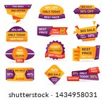 set of retail sale tags.... | Shutterstock .eps vector #1434958031