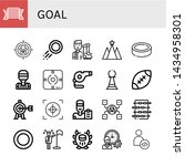 set of goal icons such as pride ... | Shutterstock .eps vector #1434958301