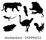 Vector Wild Isolated Animals...