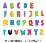 the cartoon alphabet   for the... | Shutterstock . vector #143496244