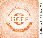 beef abstract emblem  orange... | Shutterstock .eps vector #1434965714