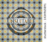 unsuitable arabic badge.... | Shutterstock .eps vector #1434965891