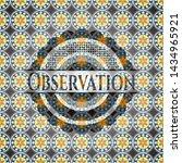 observation arabesque emblem.... | Shutterstock .eps vector #1434965921