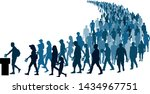 crowd of people go to the polls ... | Shutterstock .eps vector #1434967751