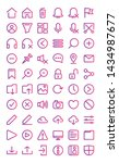 user interface icon set in...