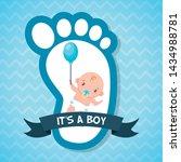 Boy Balloon Footprint Greeting...