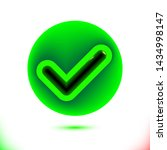realistic green checkmark icon. ...