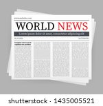 vector mock up of a blank daily ... | Shutterstock .eps vector #1435005521