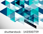 modern geometrical abstract... | Shutterstock .eps vector #143500759