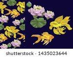 botanical seamless pattern ... | Shutterstock .eps vector #1435023644