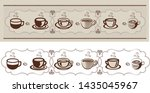 art and background with coffee ... | Shutterstock .eps vector #1435045967