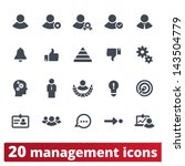 management icons  vector set of ... | Shutterstock .eps vector #143504779