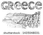 greek culture. landscape... | Shutterstock .eps vector #1435048031