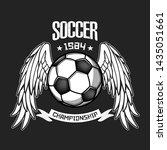 soccer logo design template.... | Shutterstock .eps vector #1435051661
