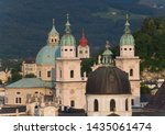 Multiple Church Spires And...