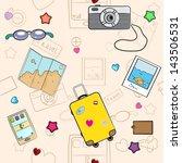 vector summer seamless pattern. ... | Shutterstock .eps vector #143506531