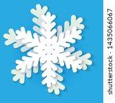 vector white and blue christmas ... | Shutterstock .eps vector #1435066067