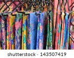 colorful sarong | Shutterstock . vector #143507419