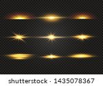 white glowing light explodes on ... | Shutterstock .eps vector #1435078367