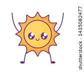 summer hot sun kawaii character | Shutterstock .eps vector #1435082477