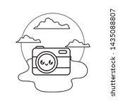 photographic camera kawaii in...   Shutterstock .eps vector #1435088807