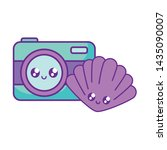 photographic camera with...   Shutterstock .eps vector #1435090007