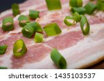 uncured apple smoked bacon...   Shutterstock . vector #1435103537
