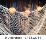 Close Up Of An Old Fishing Net