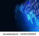 financial stock market graph on ... | Shutterstock . vector #1435135004