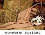 Interior Rustic Farm  Hay Whee...