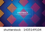 abstract lines background with... | Shutterstock .eps vector #1435149104