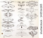 vector set of calligraphic... | Shutterstock .eps vector #143516185