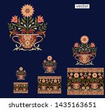 Mughal  Flower  Motif With...