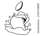sweet mango juice splash... | Shutterstock .eps vector #1435178087