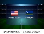united states vs curacao... | Shutterstock .eps vector #1435179524